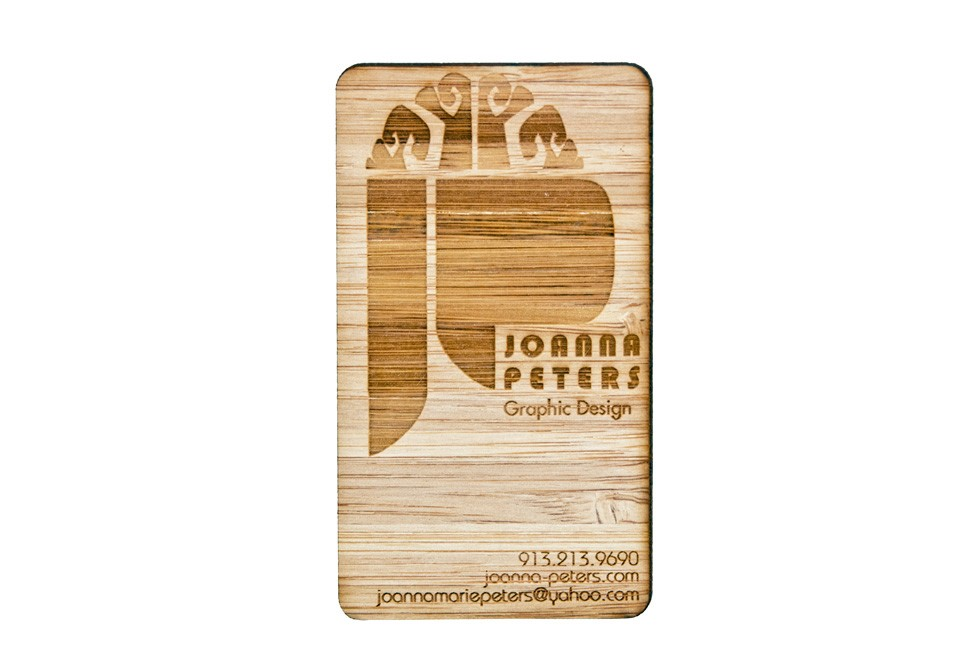 Studio Eq 100 Laser Cut Wood Business Cards In Bamboo