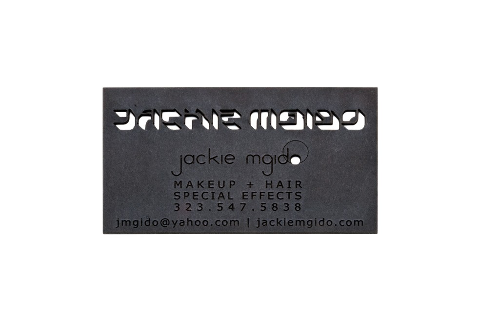 Studio eQ -- 50 Black Laser-Etched Museum Board Business Cards