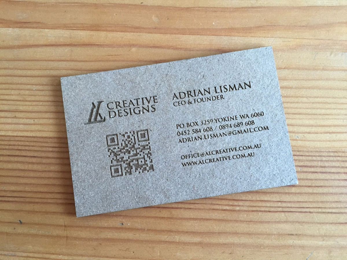 50 Cardboard Business Cards