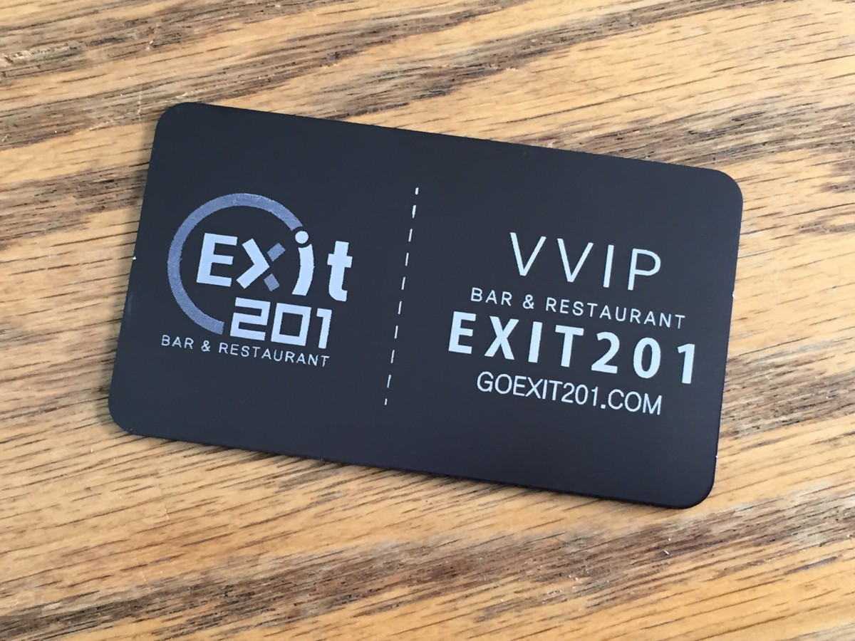 Studio eQ -- 100 Laser-Etched Thin Black Metal Business Cards
