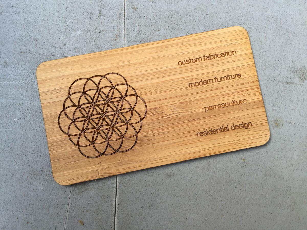 Studio Eq 1000 Laser Etched Wood Business Cards In