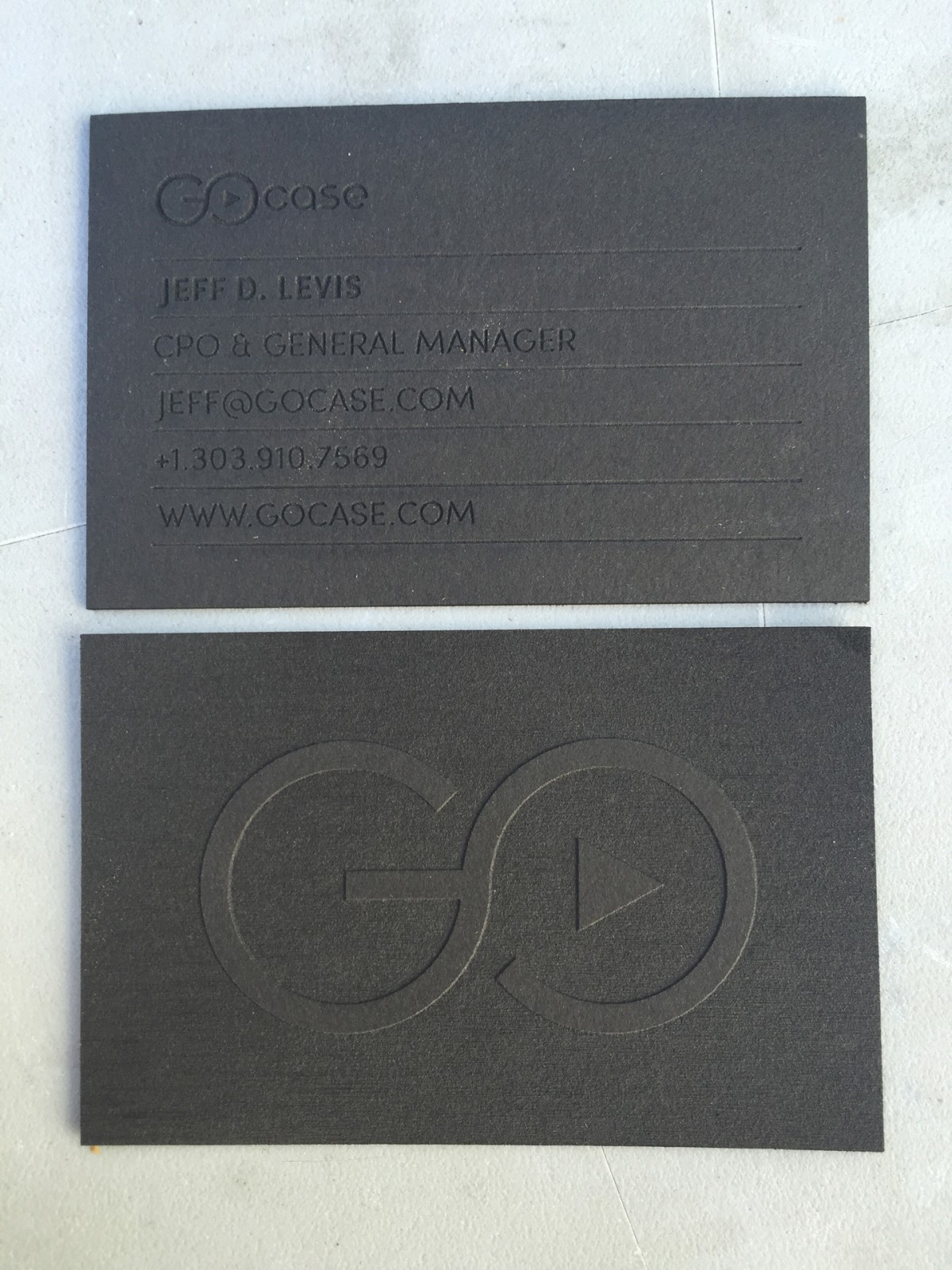 studio eq 100 black laser engraved museum board business cards
