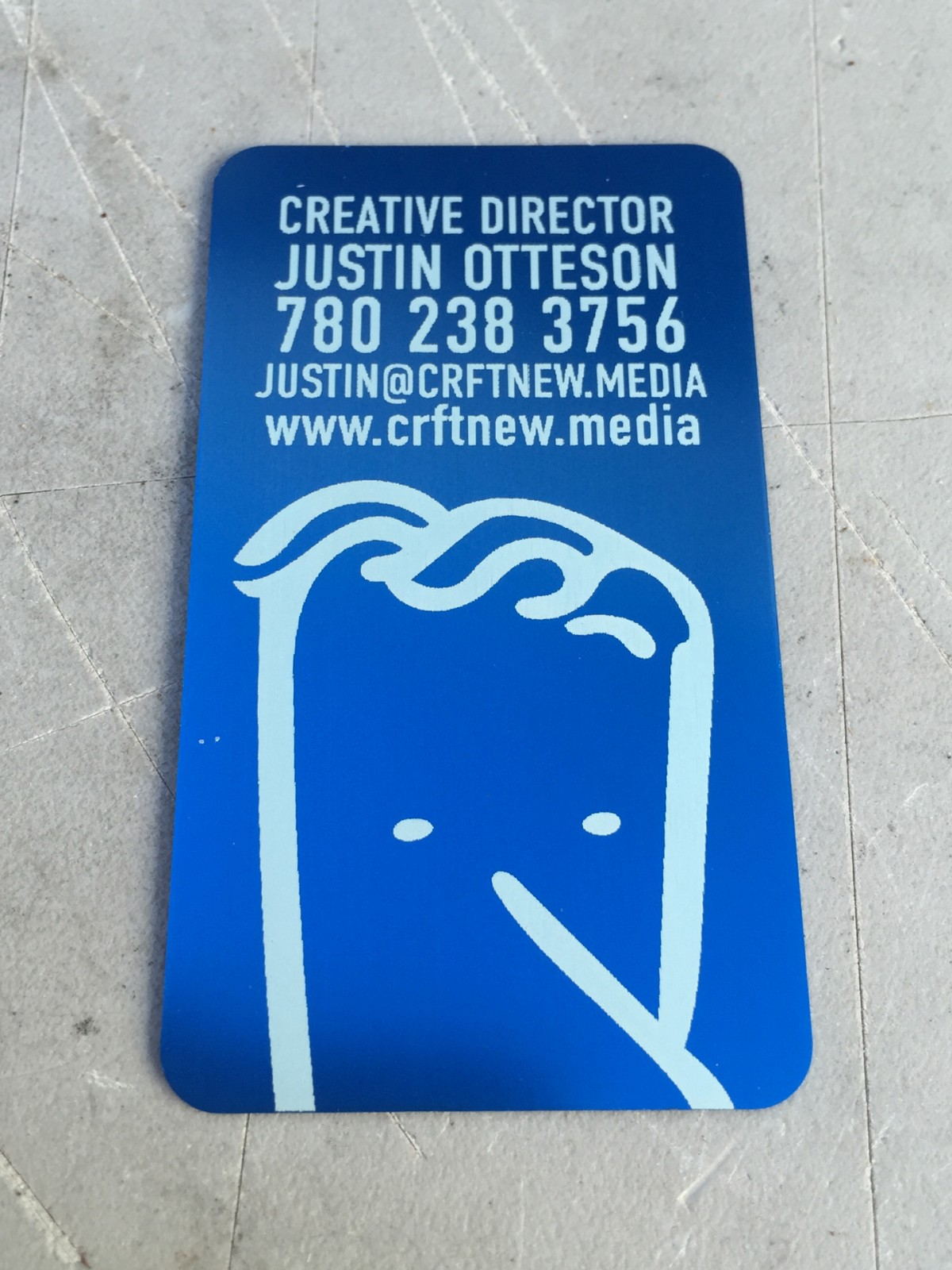 Studio eQ 50 Laser Etched Thin Blue Metal Business Cards