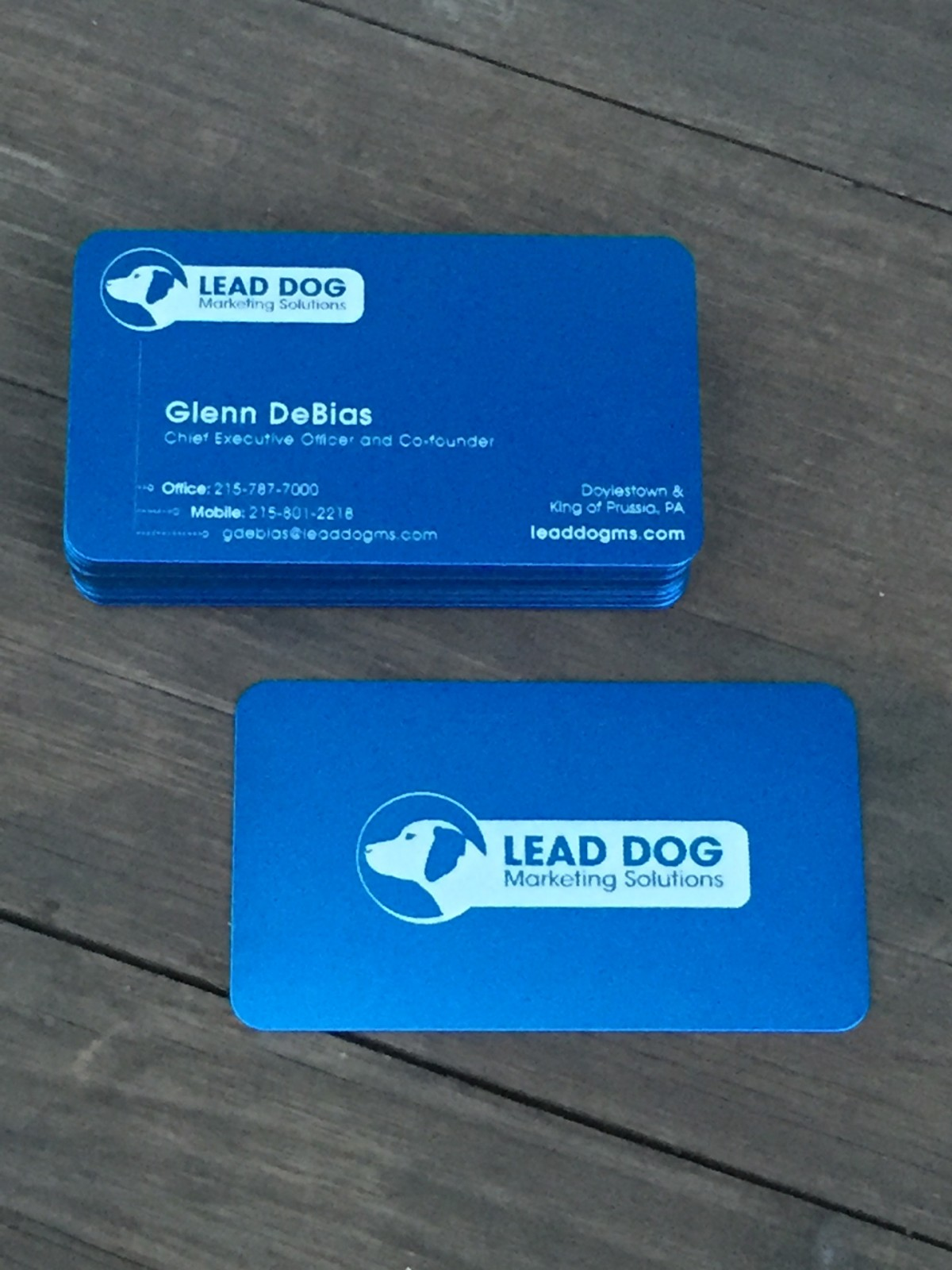 Studio eq 50 laser etched thin blue metal business cards more views 50 blue metal business cards colourmoves