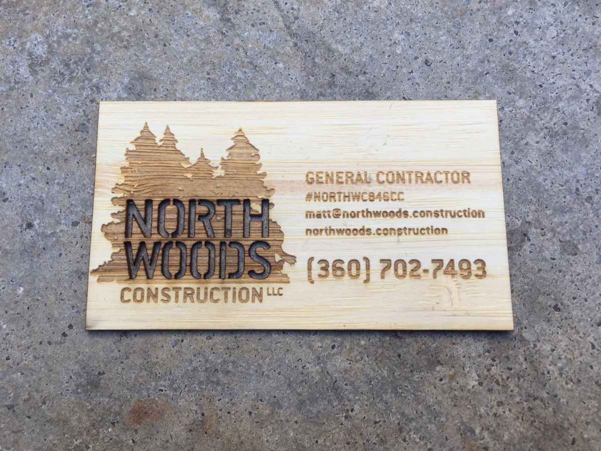 Studio eq 1000 laser etched wood business cards in bamboo veneer 1000 bamboo business cards reheart Gallery