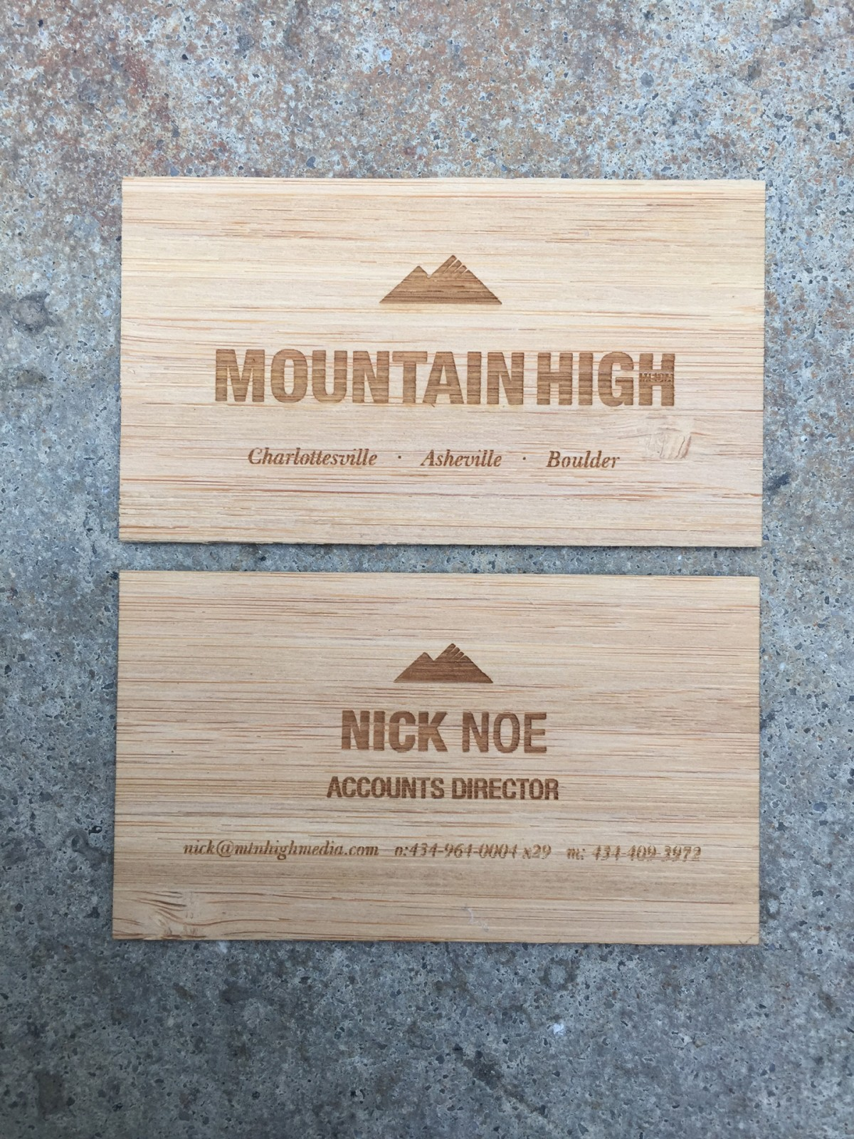 Studio Eq 250 Laser Engraved Wood Business Cards In