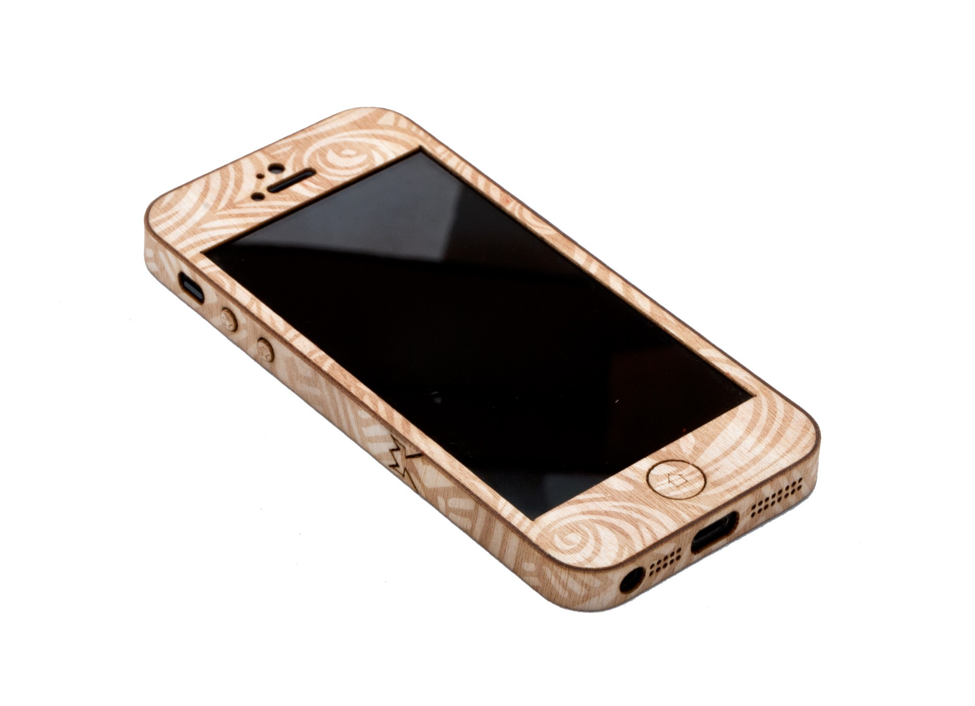 Laser-Etched Tribal Wood iPhone Case