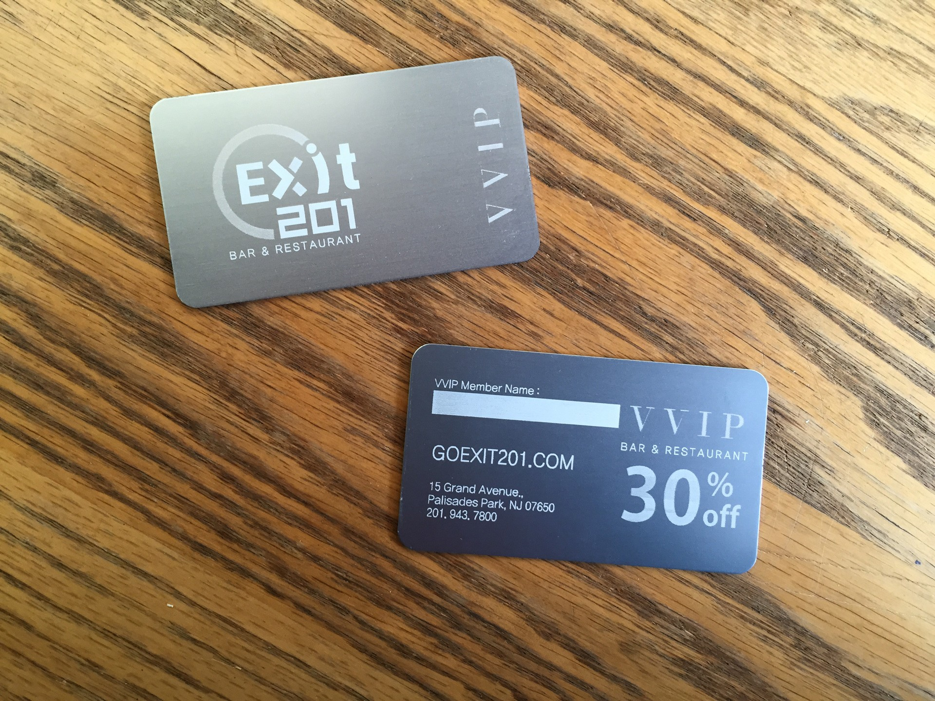 500 Silver Metal Business Cards