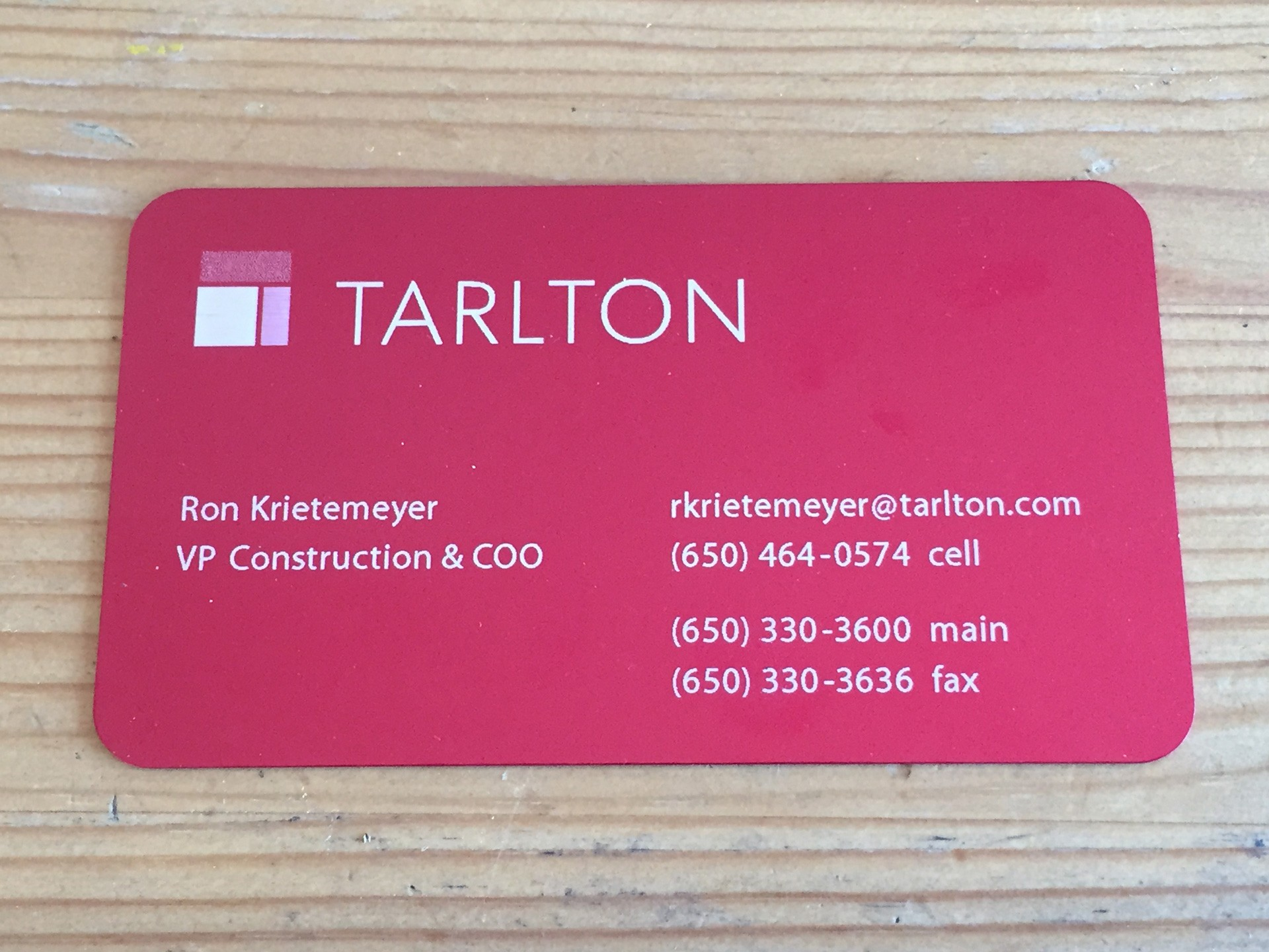 100 Thick Red Metal Business Cards