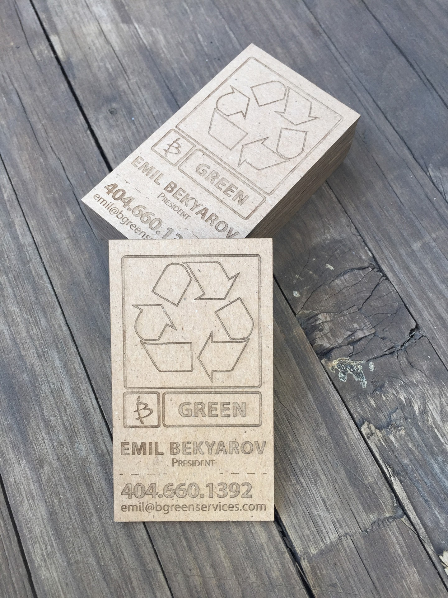 250 Cardboard Business Cards
