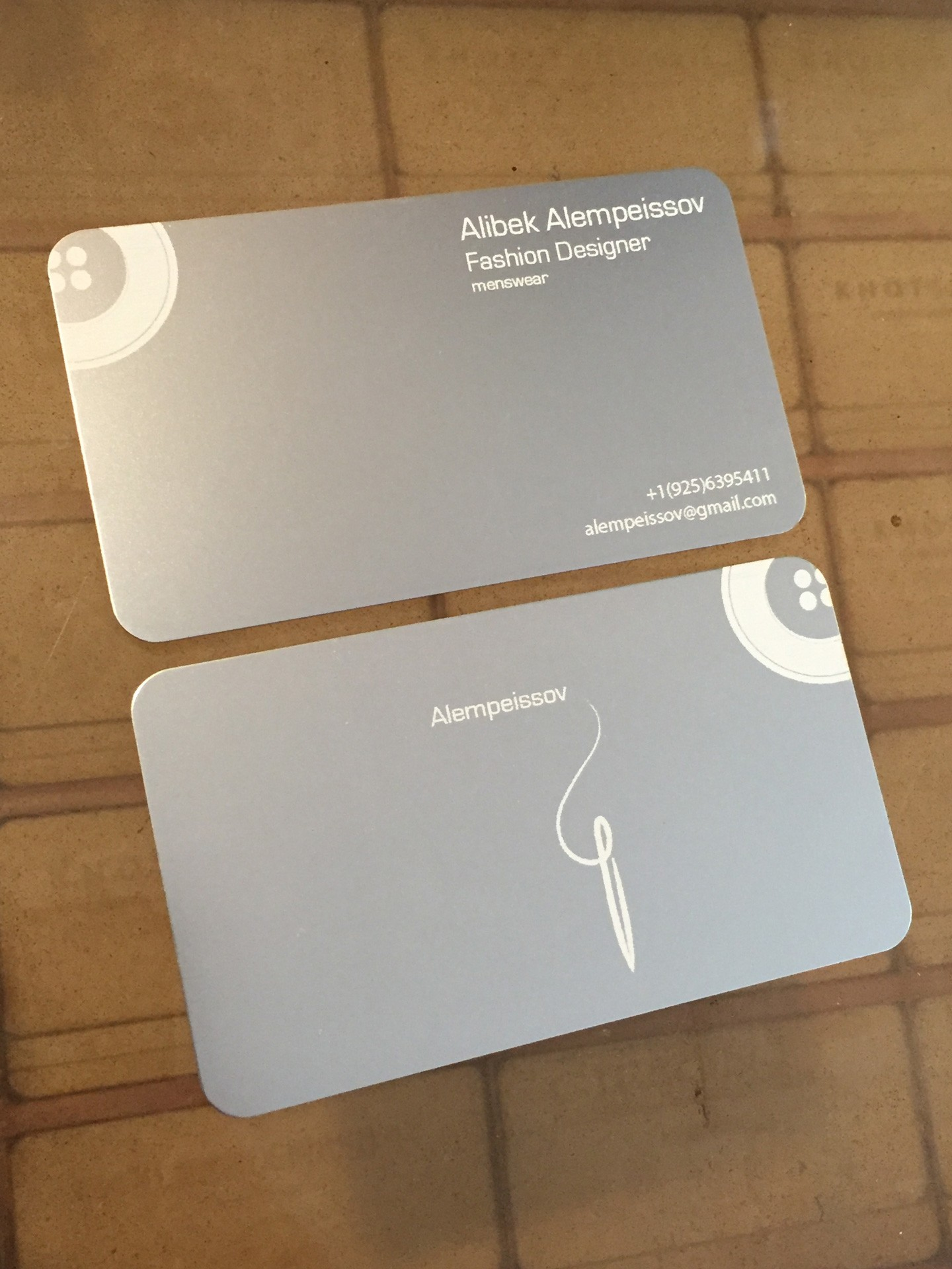50 Silver Metal Business Cards
