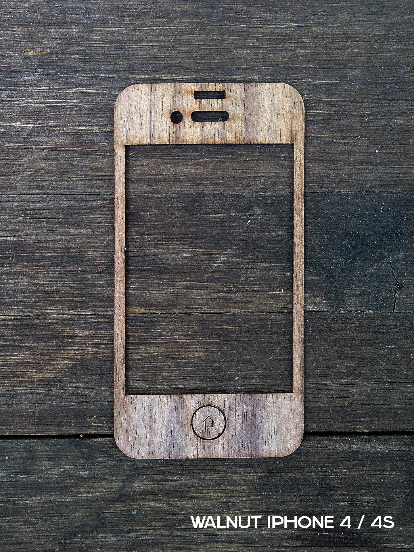 Walnut iPhone Case for iPhone 4 and iPhone 4S