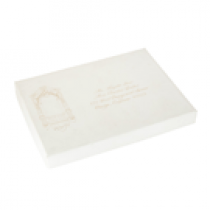 Laser Etched White Wedding Address Boxes
