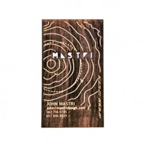 "250 - 1/32"" Birch Plywood Business Cards"