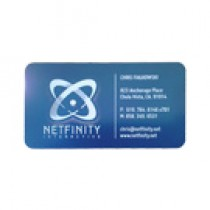 50 Blue Metal Business Cards