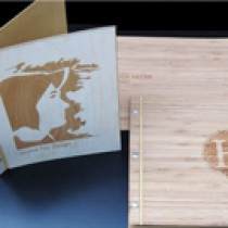 Graphic Design for Custom Wood Portfolio / Presentation Book