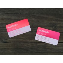 50 Thick Red Metal Business Cards
