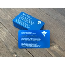 250 Blue Metal Business Cards