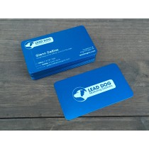 100 Thick Blue Metal Business Cards