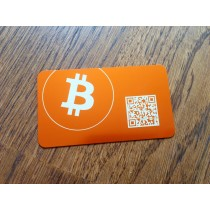 Bitcoin Crypto Card - Orange Anodized Aluminum Card