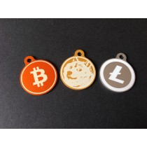 Bitcoin Crypto-Keychain - Orange Anodized Aluminum Keychain