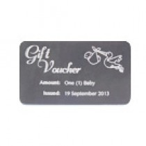 75 Laser Engraved Gift Cards / Gift Certificates