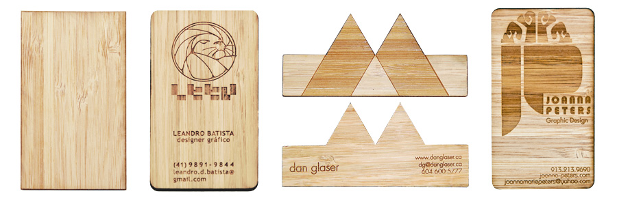 Studio eq laser cut and laser etched business cards in birch bamboo business cards colourmoves