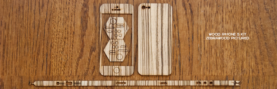 wood iphone 5 wrap