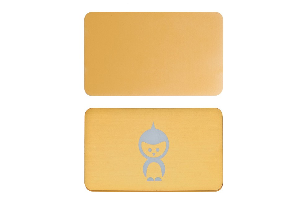 1000 Thick Gold Metal Business Cards