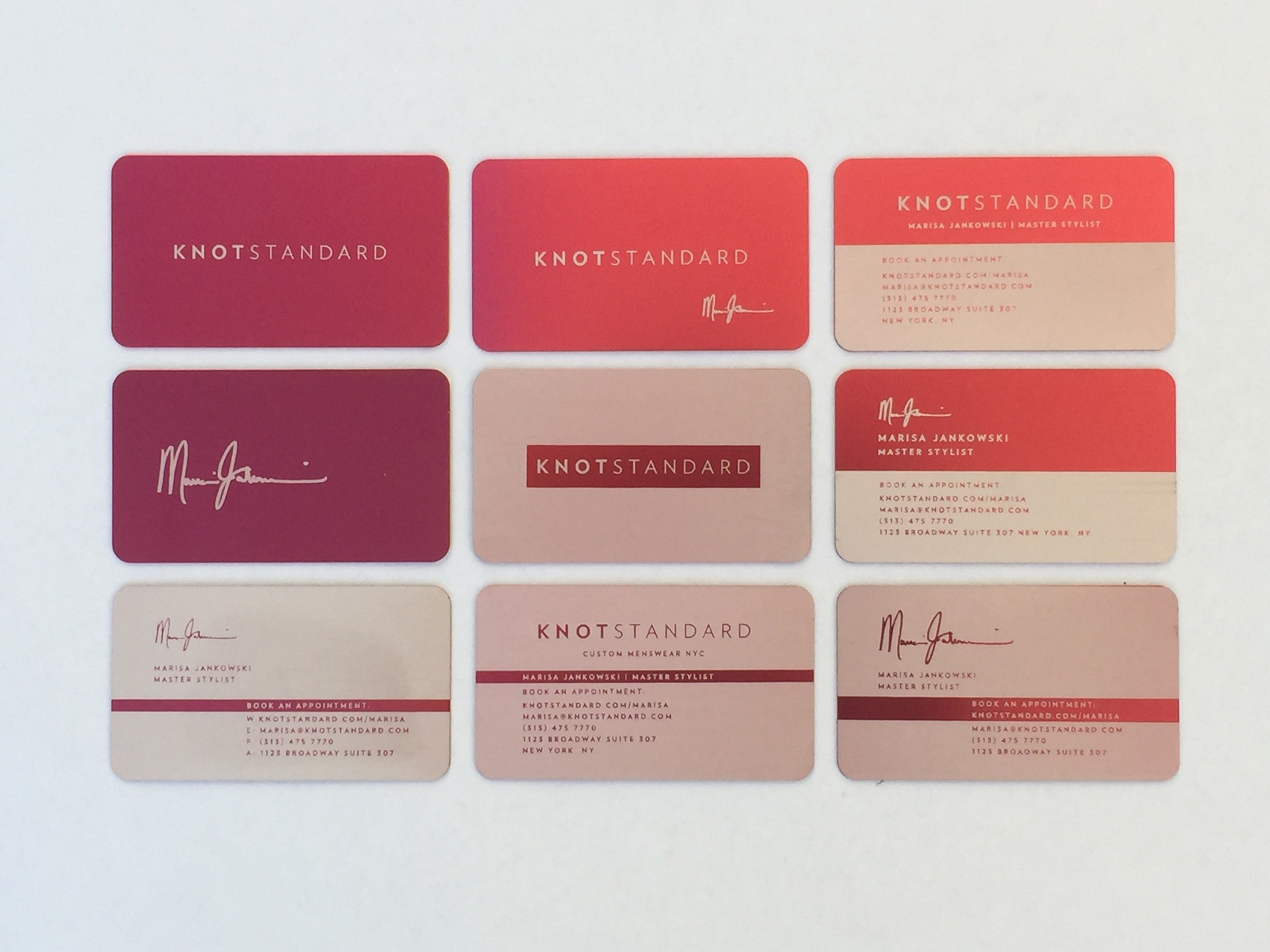500 Thick Red Metal Business Cards