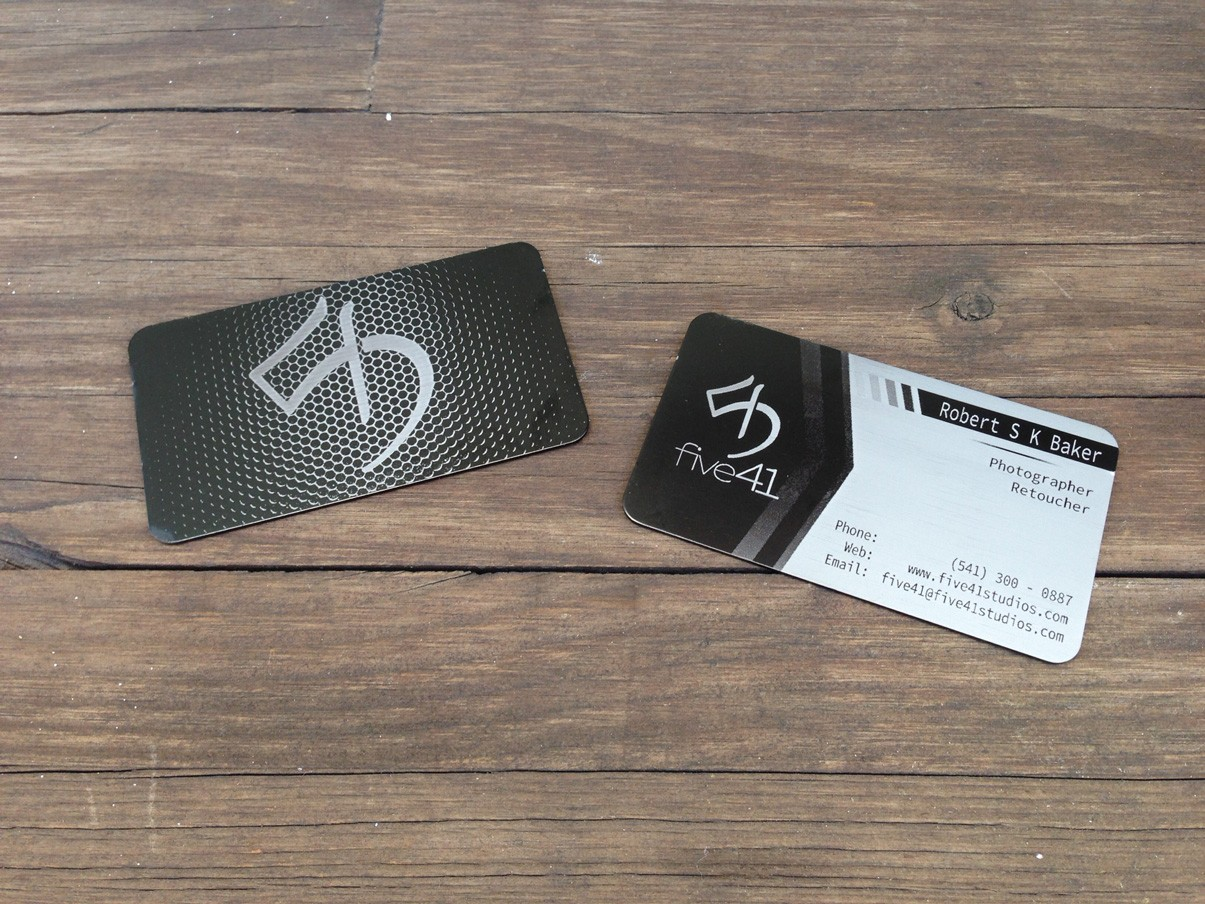 250 Black Metal Business Cards