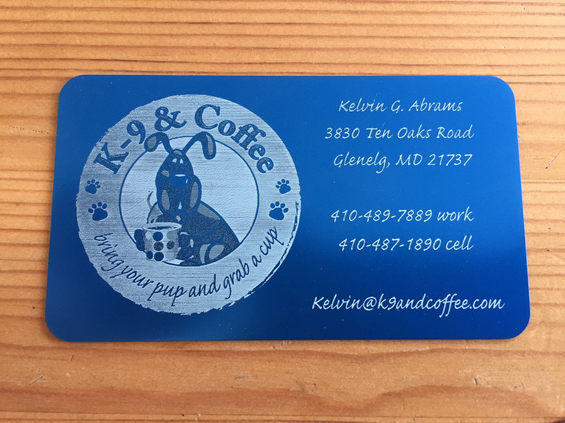 500 Blue Metal Business Cards