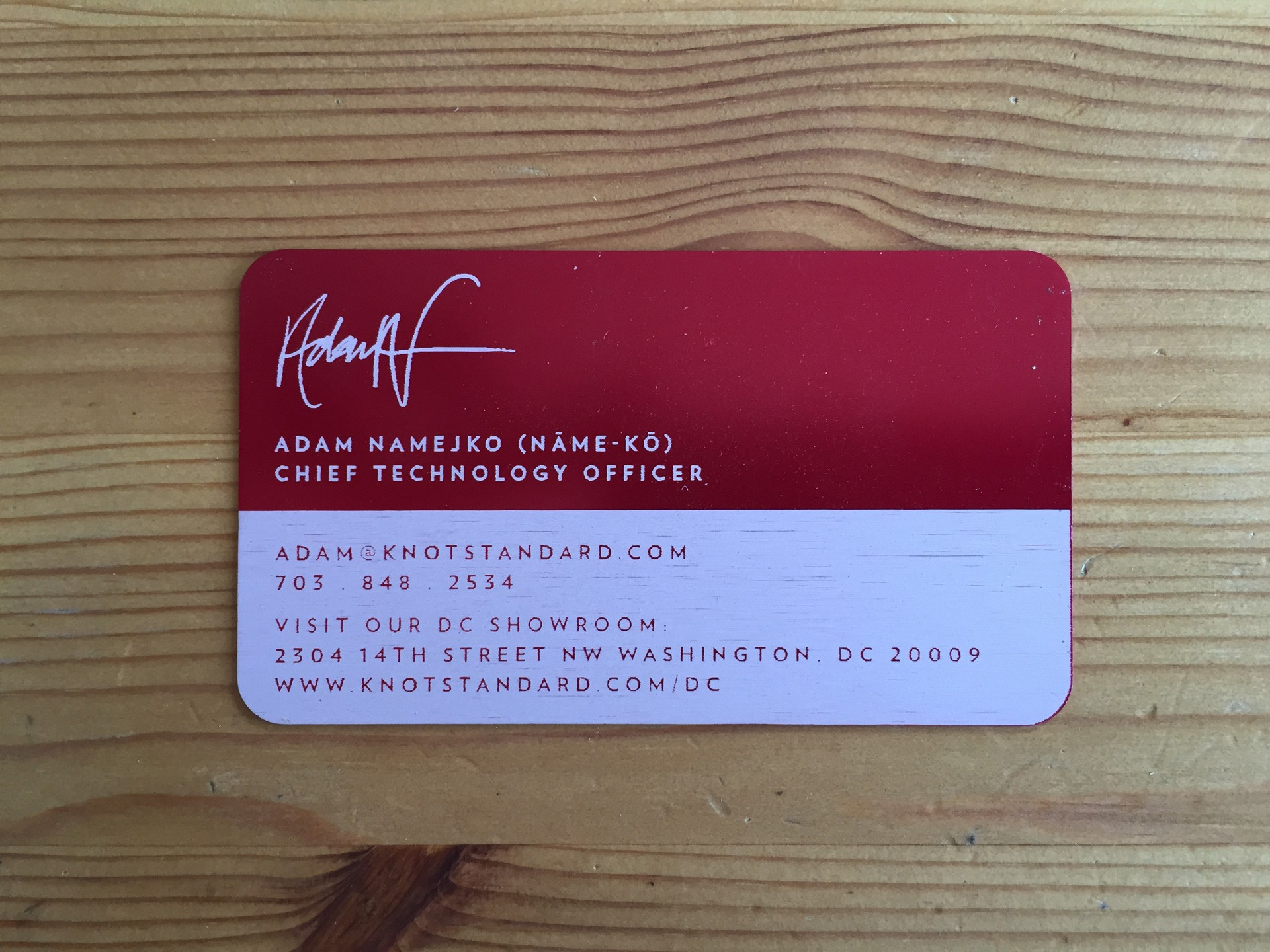 500 Red Metal Business Cards