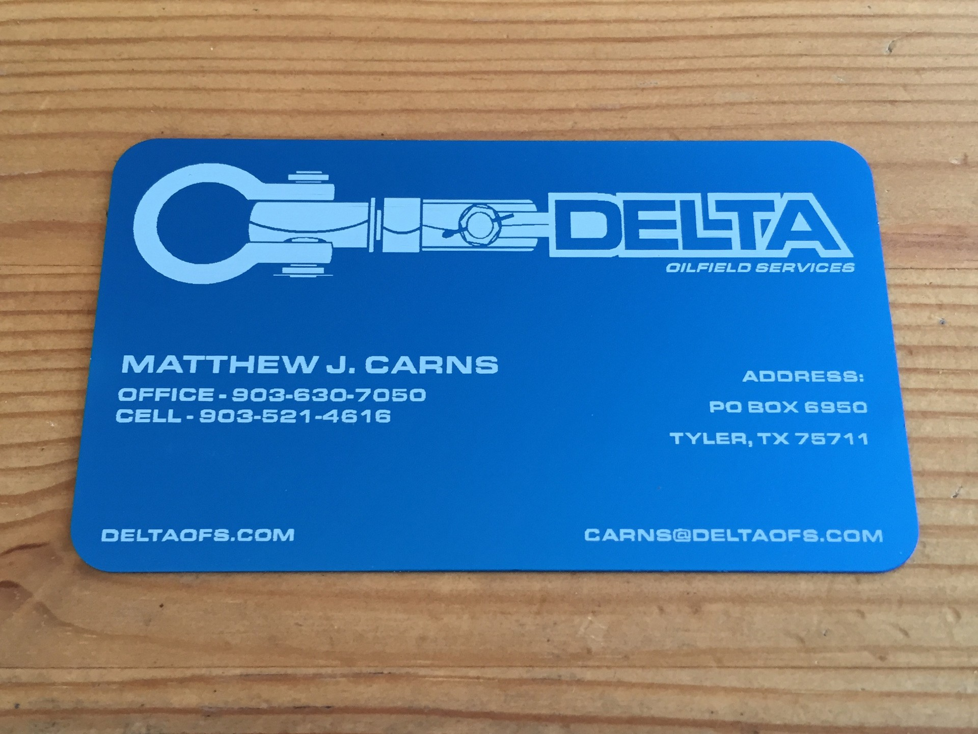 250 Thick Blue Metal Business Cards