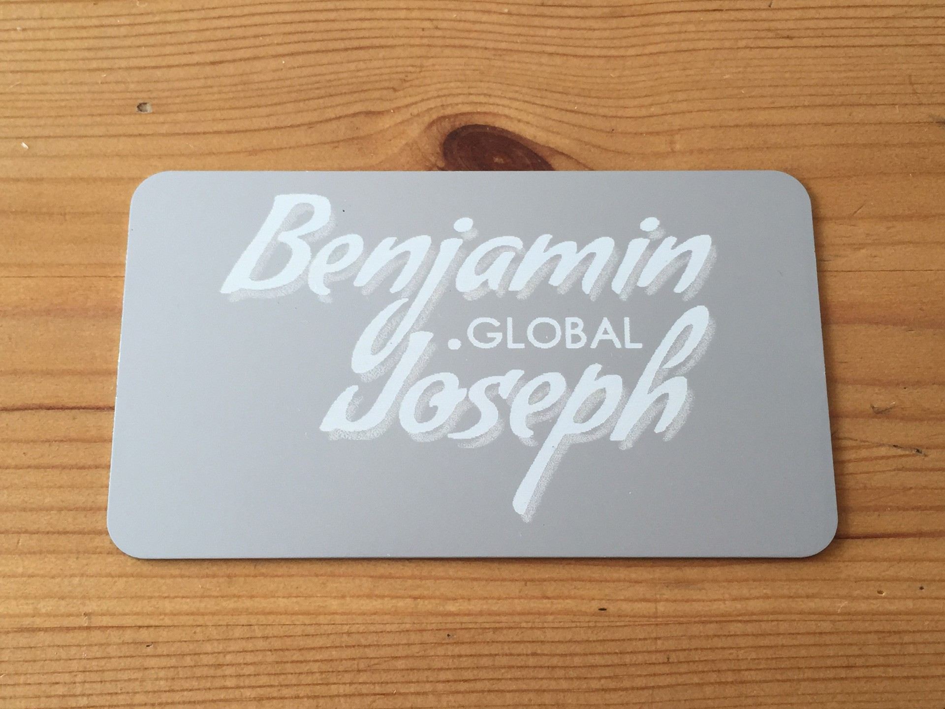 1000 Thick Silver Metal Business Cards
