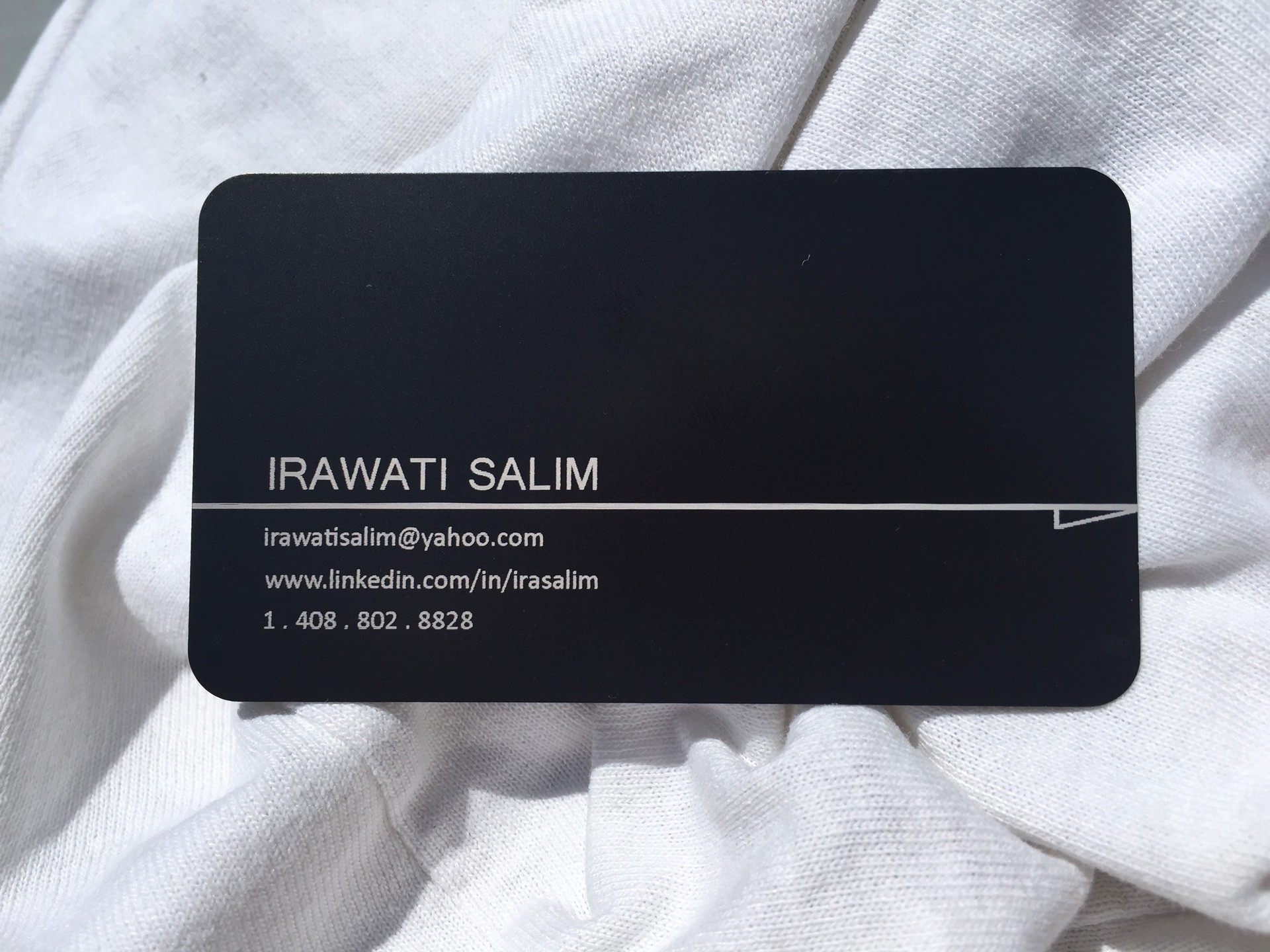1000 Thick Black Metal Business Cards