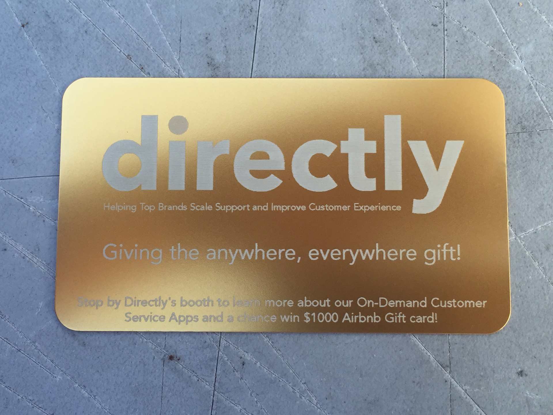 500 Gold Metal Business Cards