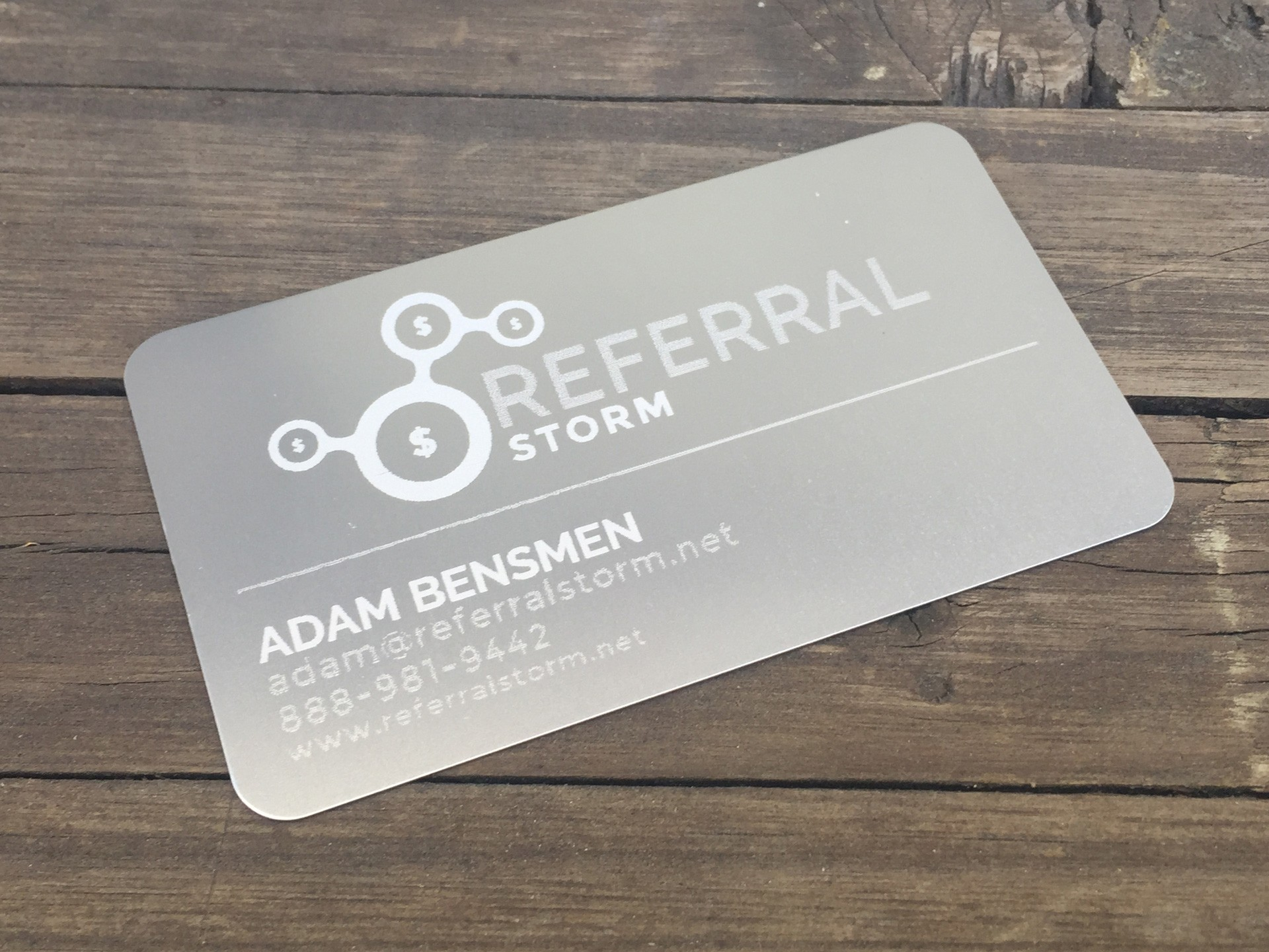 500 Thick Silver Metal Business Cards