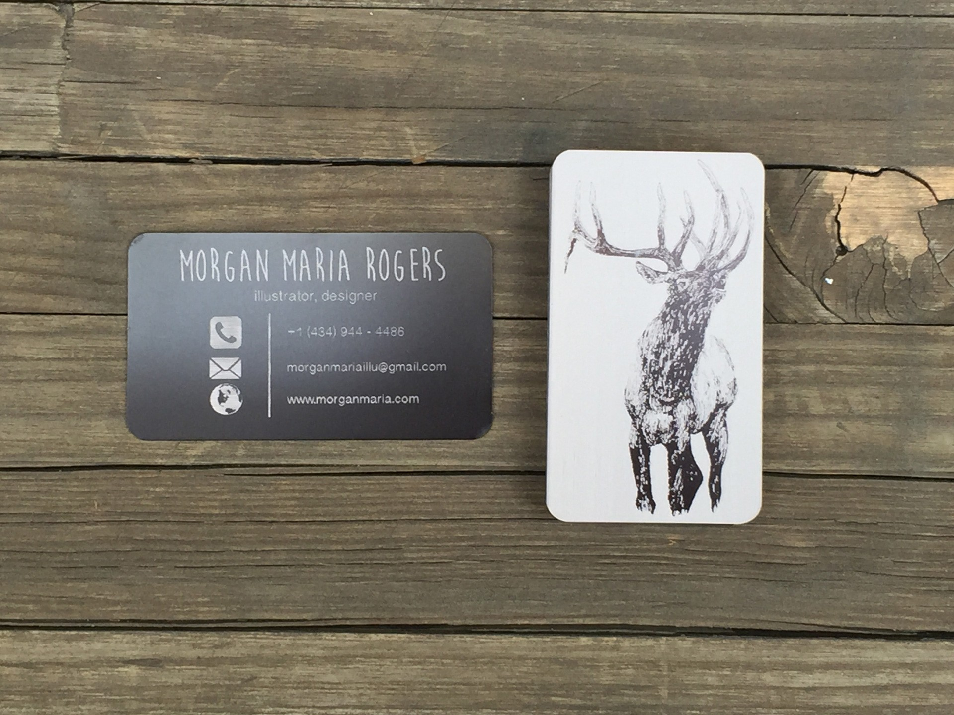 100 Thick Black Metal Business Cards