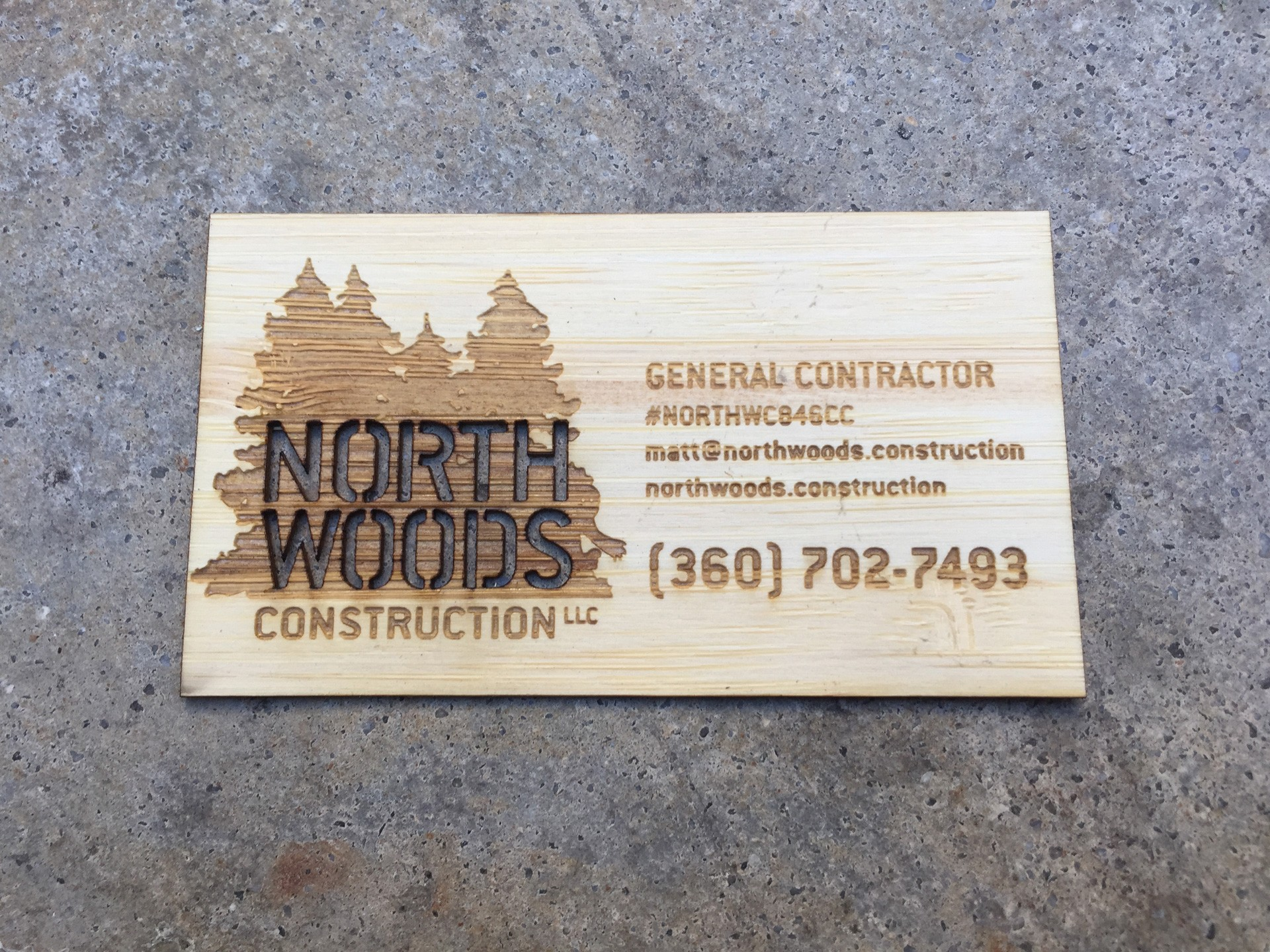1000 Bamboo Business Cards