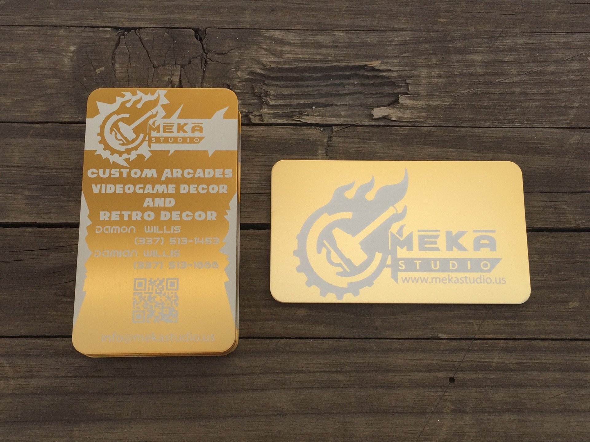 1000 Gold Metal Business Cards