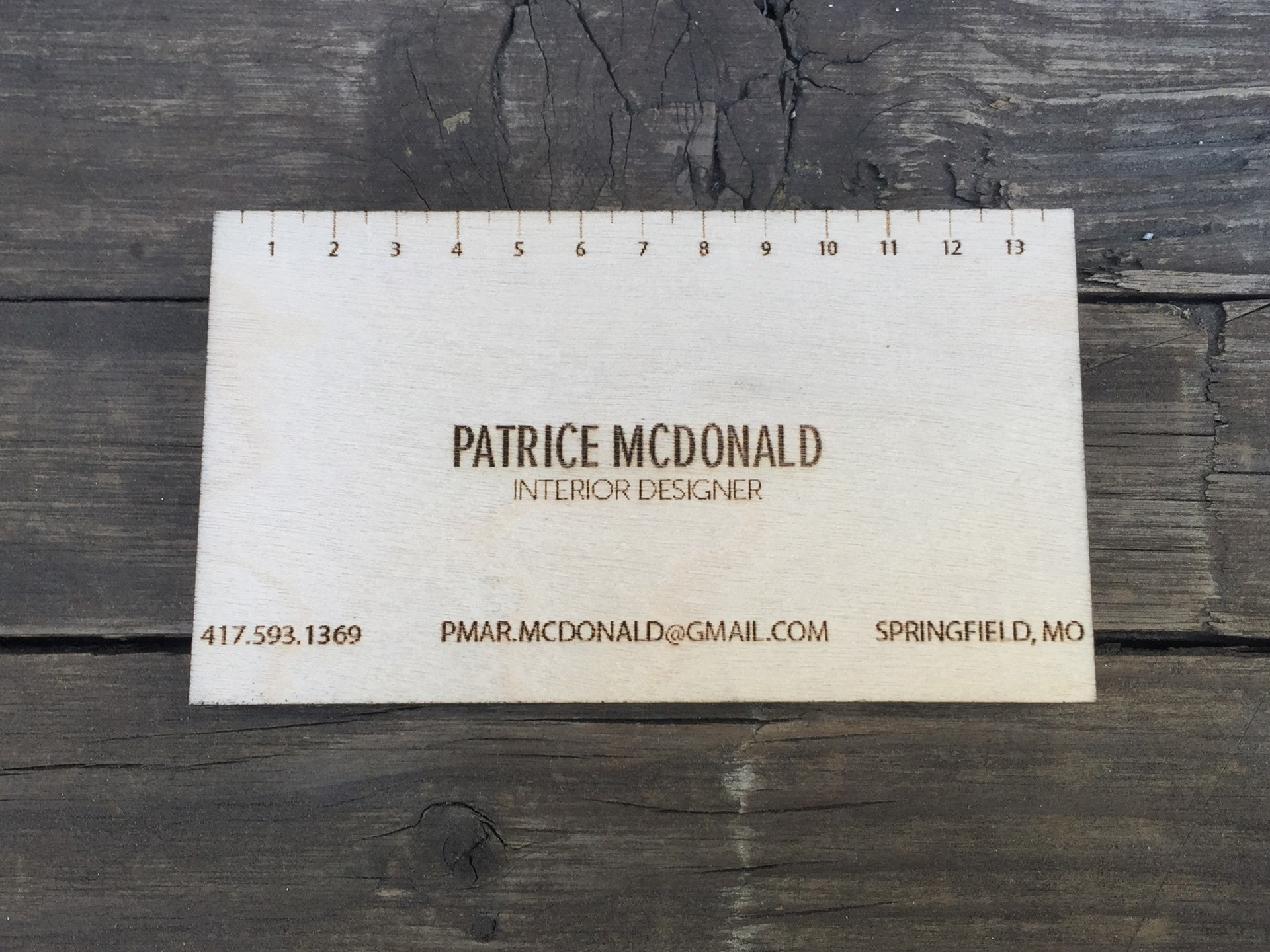 """50 - 1/32"""" Birch Plywood Business Cards"""