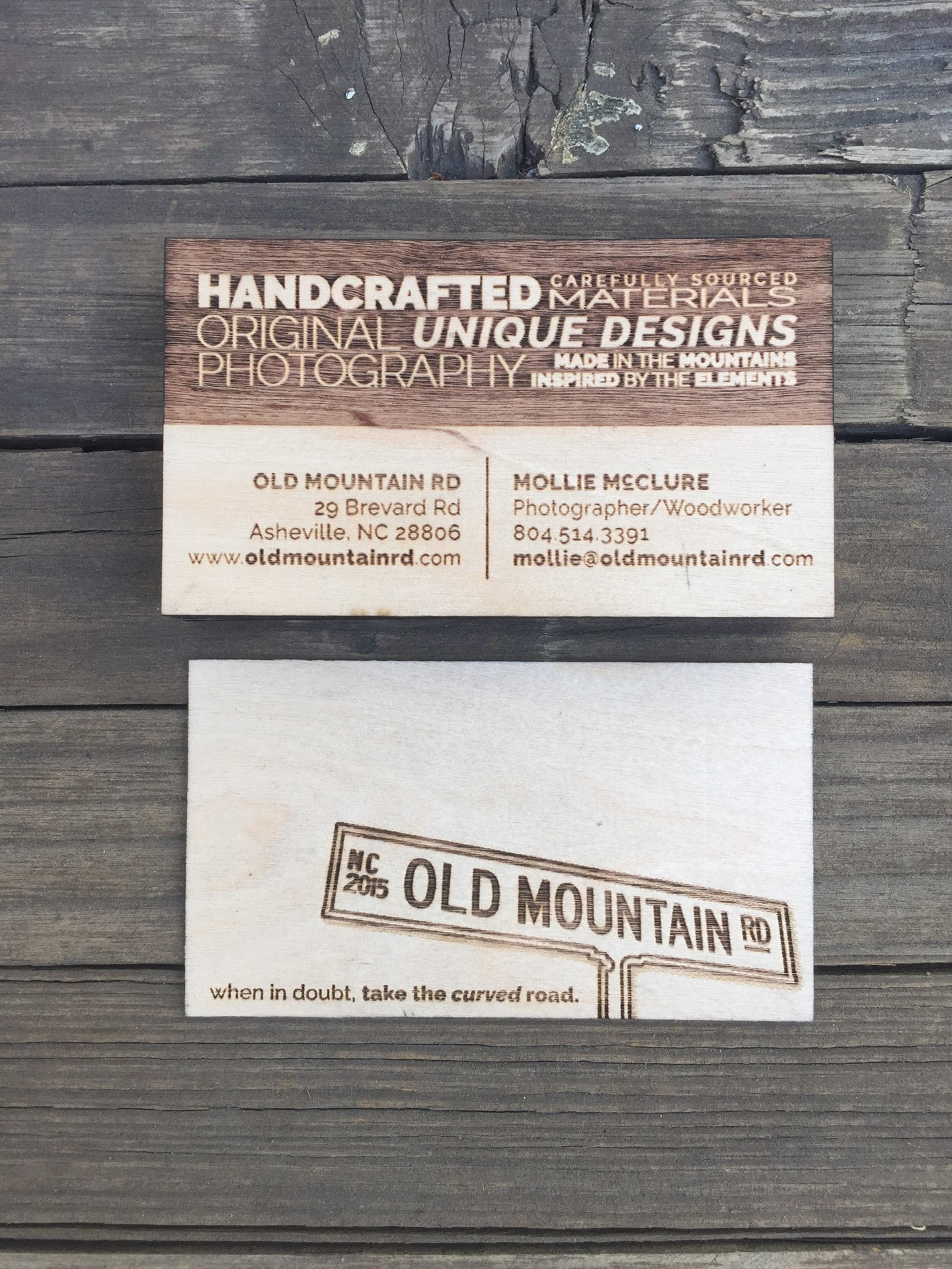 """500 - 1/32"""" Birch Plywood Business Cards"""