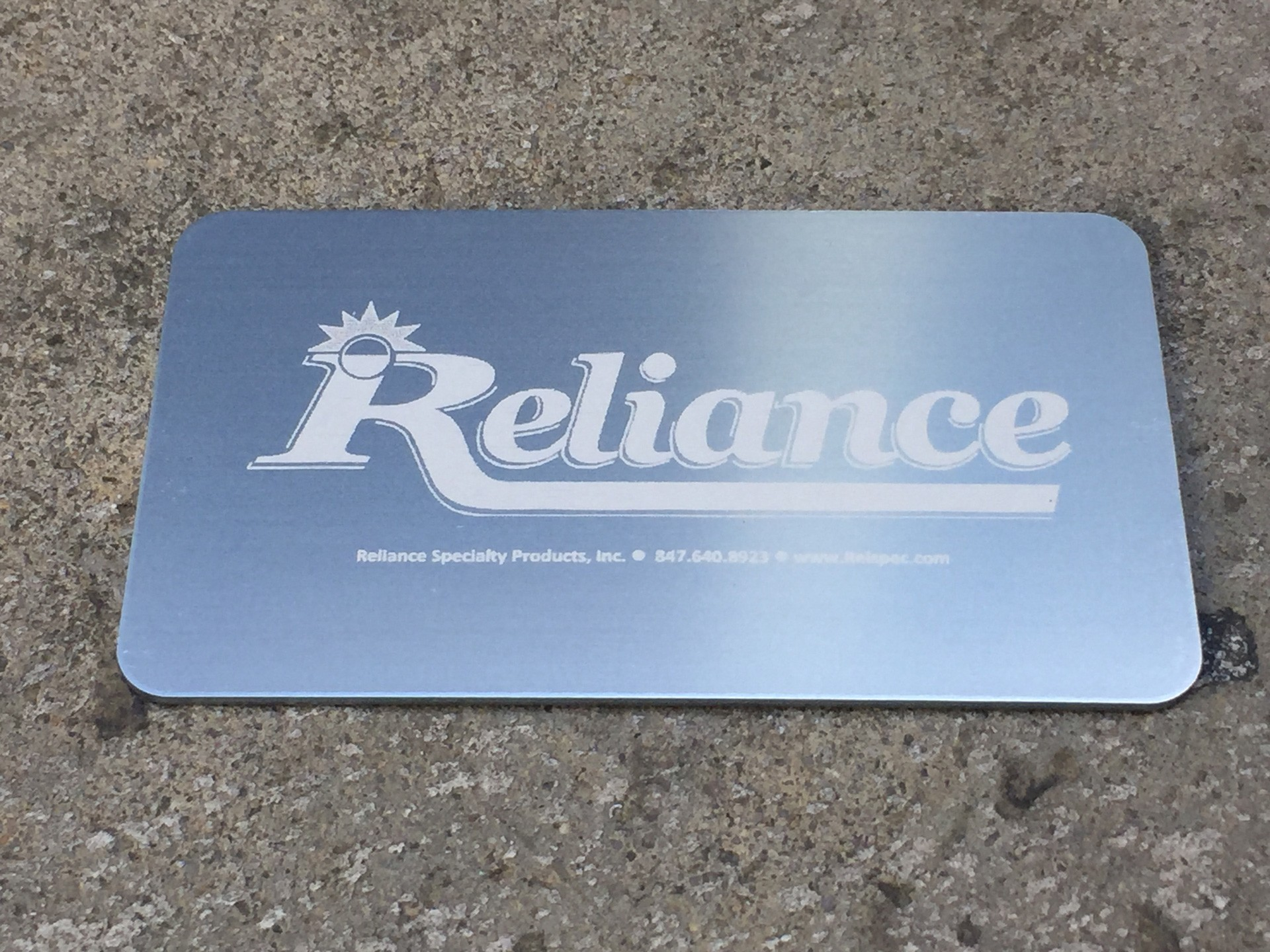 250 Silver Metal Business Cards