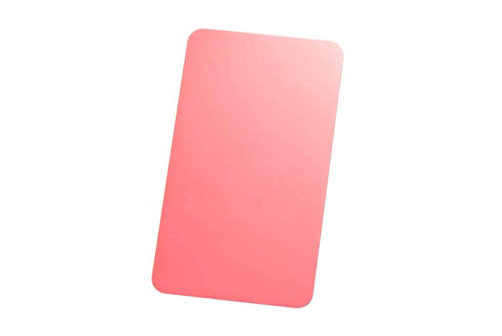 Thick Pink Metal Business Cards *Special Order*