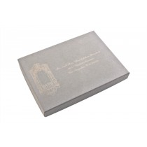 Laser Etched Gray Wedding Address Boxes