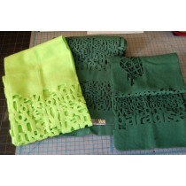 Fleece Scarf - West Oakland Design - Laser Cut Rocker Gift Inspired by Green Day