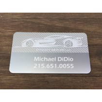 250 Thick Silver Metal Business Cards