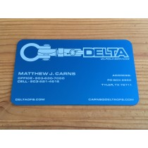 100 Blue Metal Business Cards