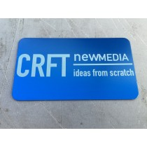 1000 Blue Metal Business Cards
